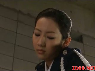 Japonesa av modelo em dela meias longas