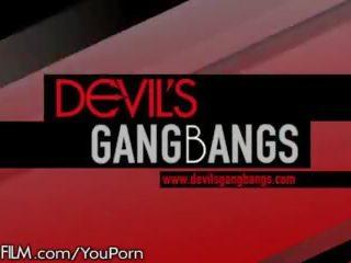 Devilsfilm Dahlia Sky Has 5 Big Cocks All to Herself!