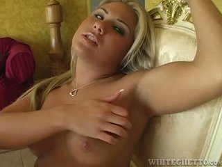 Hot Blonde Solo Masturbation Hand Job And Armpit Cumshot
