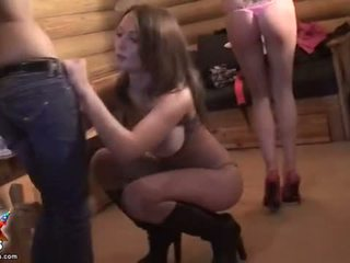 Student chicks strip and get gang banged Video