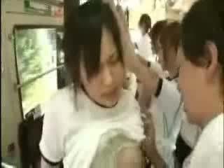 The Bus Full Of Japanese Girls Ready For Fucking Video