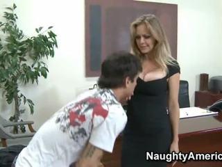 Stor breasted mamma id som til faen babe i strømper kontor knulling