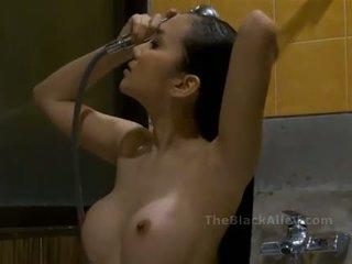 douche, chaud, asiatique