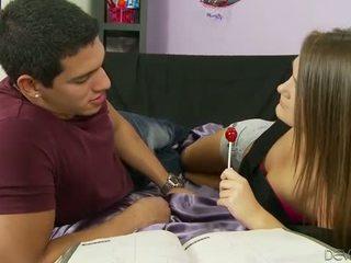 Quente jovem grávida puta abby atravessar ejaculações facialed