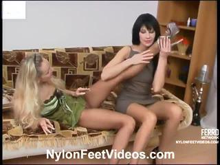 pėdų fetišas, gyvulių seksas, sexy nylon legs and feet