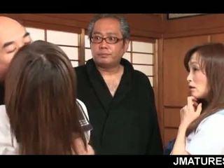 japonez, sex în grup, bunicuță