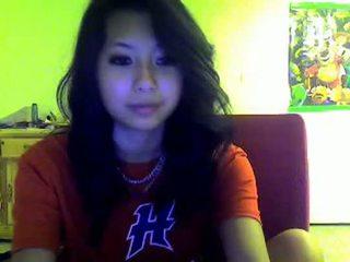 Asiática adolescente flashes yo en omegle