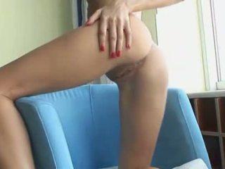 Beautiful blonde fingering snatch