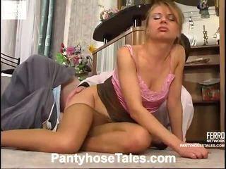 Hot Pantyhose Tales Scene Starring Salome, Muriel, Frank