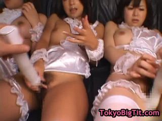 Busty Japanese Women Receive Muff Vibrated