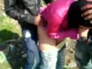 Arab sex im hijab outdoors-asw922