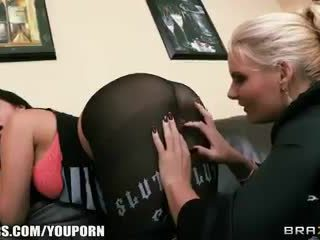 Miss Martinez has her juicy ass eaten out by and fucked by Phoenix Marie