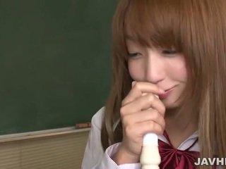 Japanska skol sätta en flute upp till henne cunt