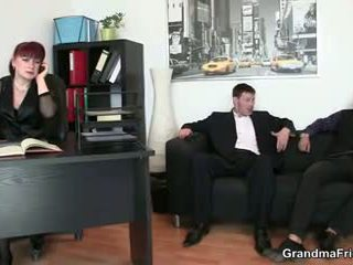 Office Mature Bitch Riding Cock after Cock Sucking: Porn 8c
