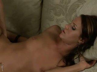 Addison rose gets screwed na ji kožuh pie na the kavč