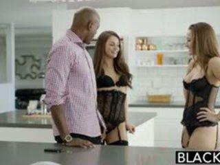 BLACKED Dani Daniels And Allie Haze Interracial Threesome