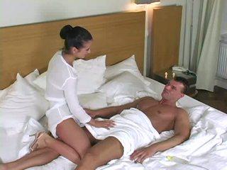 Super hot masseuse shagging