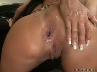 Кругла butted краля christina bella acquires a load з cream pie в її luch holes
