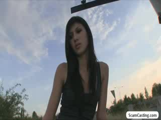 Aspiring babe model gets tricked by an...