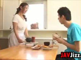 Ciężko japońskie kutas zabawa w the kuchnia