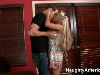 Rallig blond momma holly halston enjoys die schwer wang dipping im sie mund