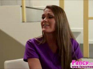 si rambut cokelat, menjilat, lesbian
