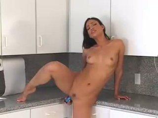 babes, masturbation, kitchen