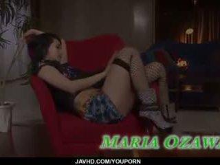 Sexig trekanter porr handling längs slimmad maria ozawa