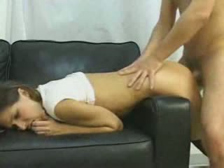 Nice Amateur Couple Fucks Anal On Couch