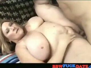 Blonde fat MILF get fucked hard
