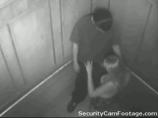Arrapato coppia su elevator sicurezza cam