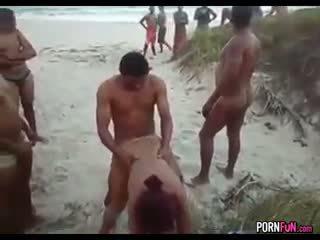 doggystyle, beach, gangbang