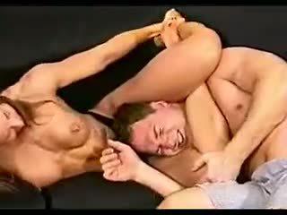 brunettes, wrestling