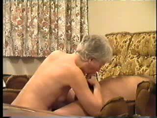 Granny loves sucking cock Video