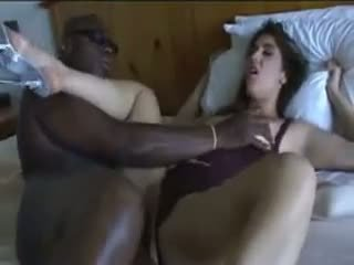 Cheating Wife gets Fucked by Her Black Lover on Bed.