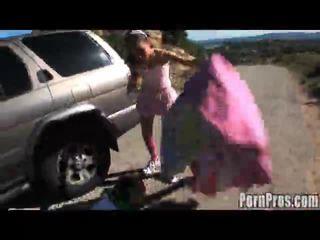 Concupiscent امرأة سمراء amai liu ركوب الخيل ل lengthy boner