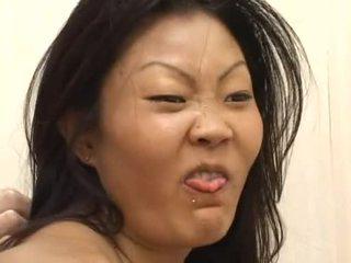 Lucy lee receives а разхвърлян лице creaming след трудно dp