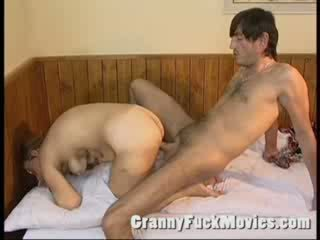 Old granny fucked hard in her hairy Booty