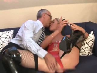 Old Man and Tall Blonde, Free Anal Porn Video 6d
