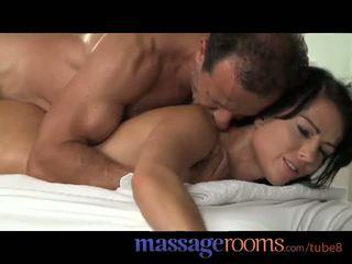 Massagem rooms jovem adolescentes obter pounded a partir de atrás até orgasmo e ejaculação interna