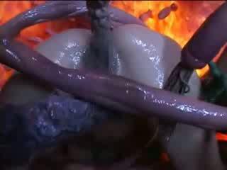 ใหญ่, สไตล์, tentacles