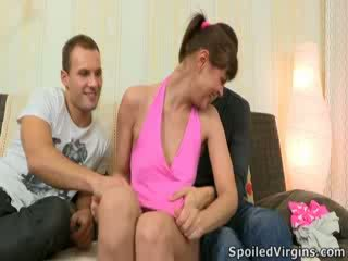 Rina isn't too sure about doing it with two guys. Hell, she isn't even too sure about losing her virginity, perhaps some