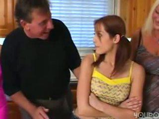 Viejo paso papá seduced joven monada adolescente hija