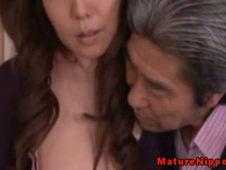 Japanese Mature MILF Using Sexy Linger...