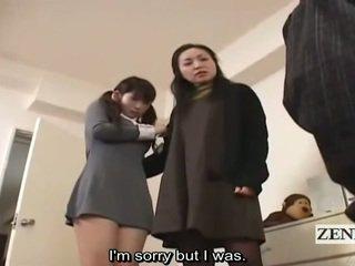 Subtitle Cfnm Japanese Schoolgirl And Milf Catch Peeper