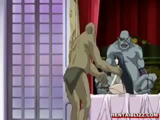 헨타이 노예 빨기 괴물 수탉 과 얼굴의 사정