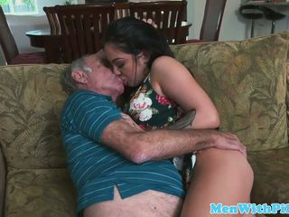 Pornstar Aria Rose Rimming Elderly Mans Ass: Free Porn 48