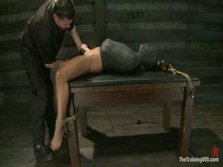 Adrianna experiences restrictive slavery और मन dicklicking orgasms onto दिन 3.