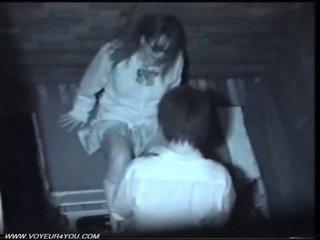 Two יפני חרמן זוג ציבורי סקס
