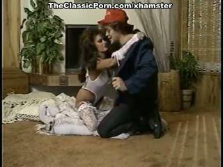 Mooi dame in retro porno film
